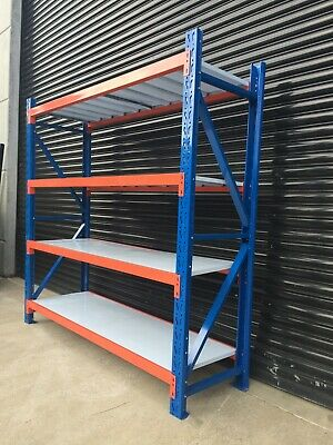 NEW !!2Mx2M! Garage Warehouse Steel Storage Shelving Shelf Shelves Racking