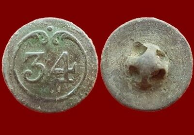 *Prados* Button 34 th line Infantry French army, Napoleonic wars, 16 mm