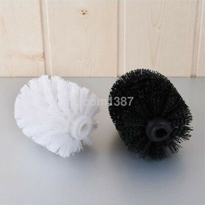 Black/White Toilet Brush Head Holder Replacement Bathroom WC Clean Accessory UK