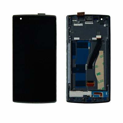 Assembly LCD Display Touch Screen Digitizer Front Frame For OnePlus One 1+ A0001