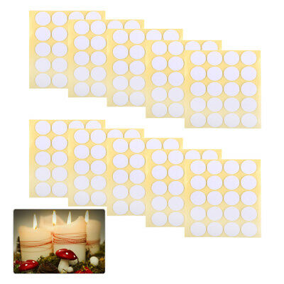 200pcs 20mm Diameter Wick Stickers Glue Dots for Candle Making Paste Balloon
