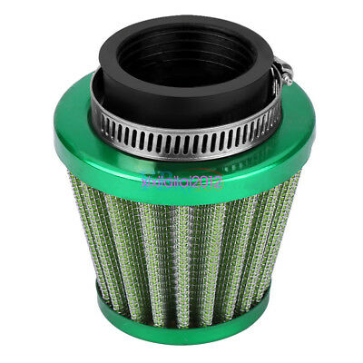 38mm Air Filter With Clamp Kit Green for Off-road Motorcycle ATV Dirt Pit Bike