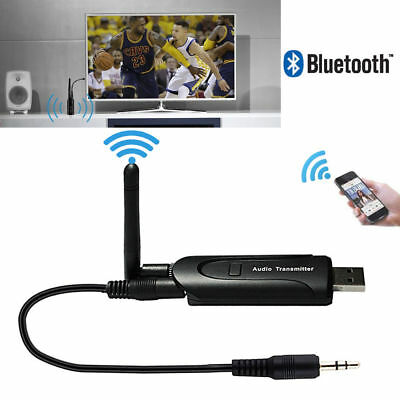 Bluetooth 4.0 Wireless Audio Transmitter Stereo Adapter für TV CD DVD PC Laptop