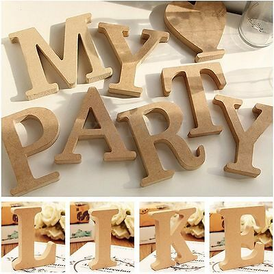 Hot Freestanding Wood Wooden A-&-Z Letters Alphabet Decor 15MM Thick! 10CM High