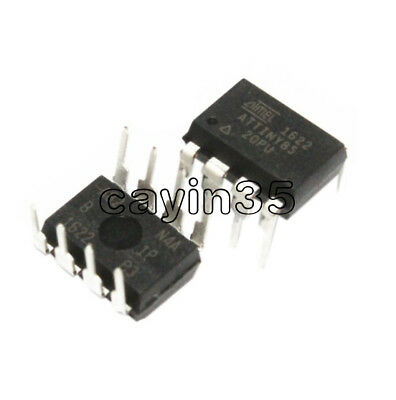 5PCS ATTINY85-20PU IC MCU 8BIT 8KB FLASH 8DIP Top ATTINY85