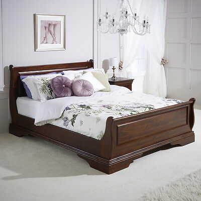 French Solid Hardwood 6ft Super King Size Sleigh Bed - Furniture- BRAND NEW HW06