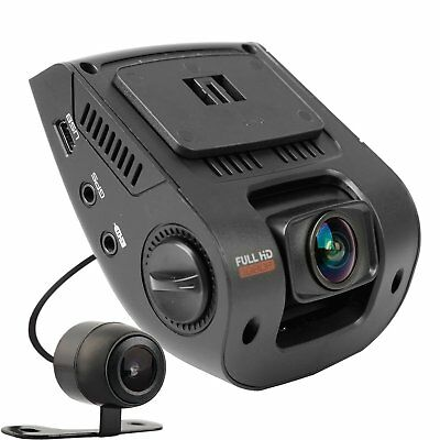 REXING V1P Dash Cam Dual Front and Rear with 260 Degree Angle 1080P HD Night Car