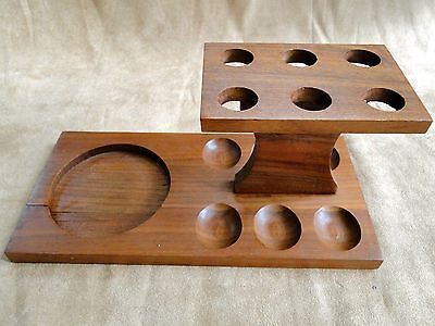 VTG Hardwood 6 Smoking PIPE Holder Rack Stand