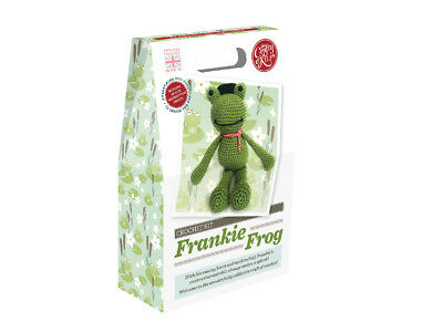 The Crafty Kit Company | Frankie Frog Crochet Kit | Intermediate | CKC-CK-042