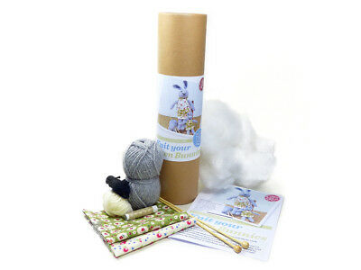 The Crafty Kit Company | Knit Your Own Bunnies Kit | Makes Two | CKC-KK-047