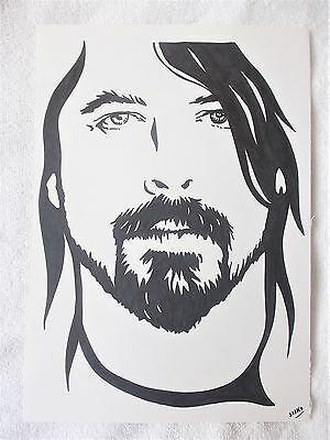 A4 Art Marker Pen Sketch Drawing Dave Grohl from Foo Fighters A