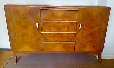 QUICK ENDS 10th AUGUST Beautiful Art Deco Sideboard Walnut , good condition