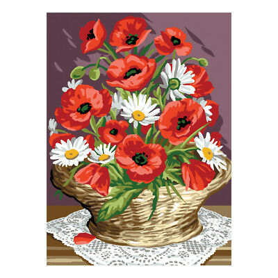 Royal Paris Tapestry Printed Canvas Basket of Poppies | 98801310185