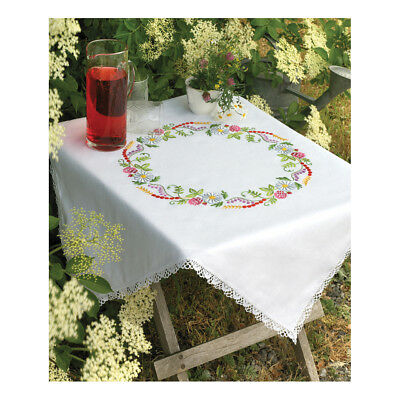 ANCHOR   Embroidery Kit: Summer Flower Ring - Tablecloth   92400009333