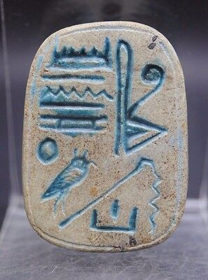 Rare Large Ancient Egyptian Scarab Beetle Amulet