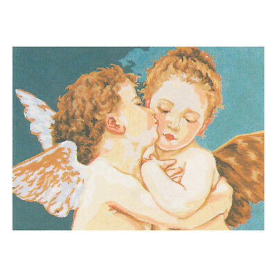 COLLECTION D'ART | Printed Canvas: Cherubs Kissing |CD6030