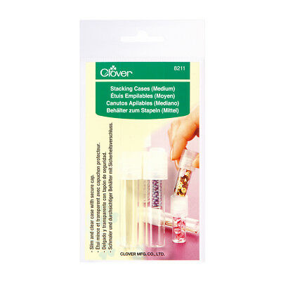 CLOVER   Stacking Tube Storage Cases: Medium Pack 3   CL8211