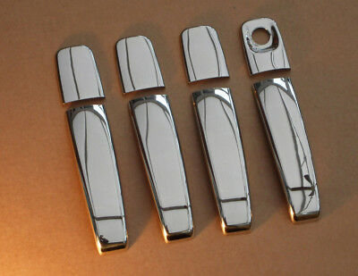 Chrome Door Handle Trim Set Covers To Fit Renault Trafic (2002-14)