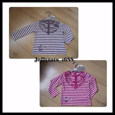 NWT MINOTI Baby Girls Clothes 6-12-18-23 Months Pinks Purple Striped Sleeved Top