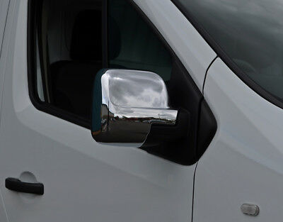 Chrome Wing Mirror Trim Set Covers To Fit Renault Trafic (2014+)