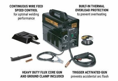 New 90 Amp-AC, 120 Volt, Flux Cored Arc Style Repair Welder (No Gas Needed)
