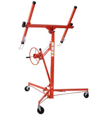 Heavy Duty Rolling Lockable Caster Drywall Panel 11 ft Steel Lift Jack Hoist