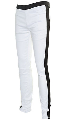 New Tractor Brand Girls Stretch Stretchy Jeggings Black & White