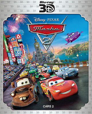 Cars 2 3D/2D(Blu-ray, 2011, 3-Disc Set,  3D/2D) RegionFREE