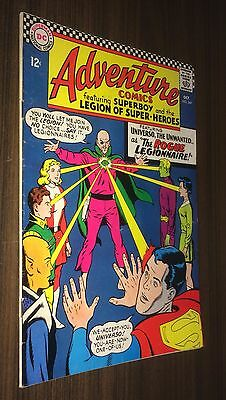 ADVENTURE COMICS #349 -- Oct 1966 -- 1st Appearance UNIVERSO -- F- Or Better