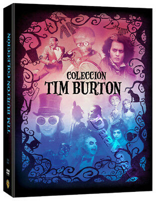 Tim Burton Collection NEW PAL Arthouse 9-DVD Set J. Depp A. Rickman Alec Baldwin