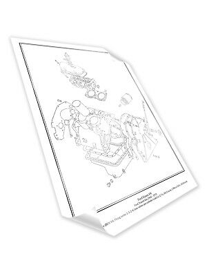 Ford Transit Essex V4 Engine Diagram Schematic Framed Print A2 A3