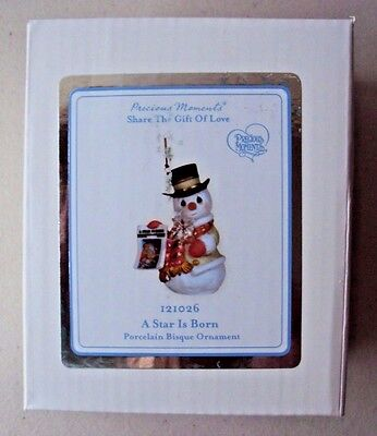 "2011 Precious Moments ""A Star Is Born"" Porcelain Bisque Ornament - NOS"
