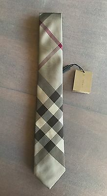 Cravatta BURBERRY LONDON classic check seta larghezza 7 cm beige silk tie