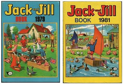 Jack and Jill Book 1979 & 1981 - Fleetway Annuals x2