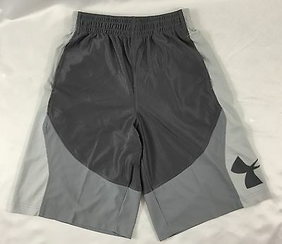 Under Armour MEN'S Athletic Shorts Loose Heat Gear Black Gray 1254397 Size S