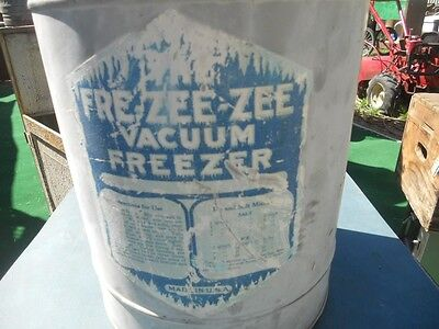 Vacuum Freezer  Fre-Zee-Zee  Freezer  1912&'23 Needs Bottom Plate Sold By Sears