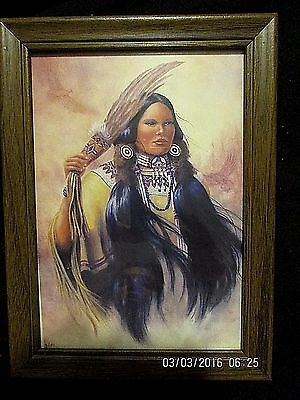Native American Woman Dressed In Native Ceremonial  Garment - Framed