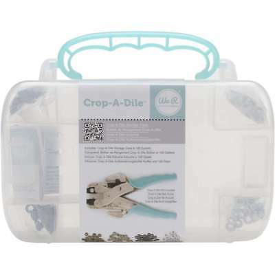 We R Memory Keepers Crop-A-Dile Case With Teal Eyelets