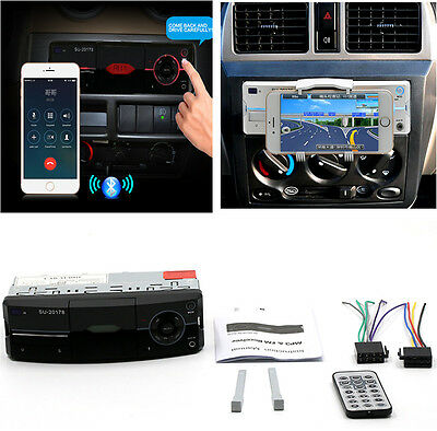 1Din Car Audio Stereo Lossless Sound Quality MP3 Player FM Radio Stereo Adapter