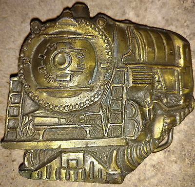 Solid Brass Locomotive Belt Buckle - Instyle 1978 - MASSIVE BUCKLE!