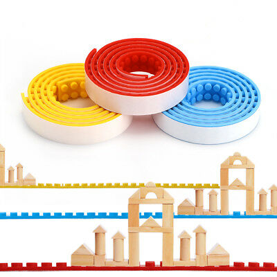 1M Lego Compatible Tape Toy Self-Adhesive Block Flexible Silicon Sticky 3 Colors