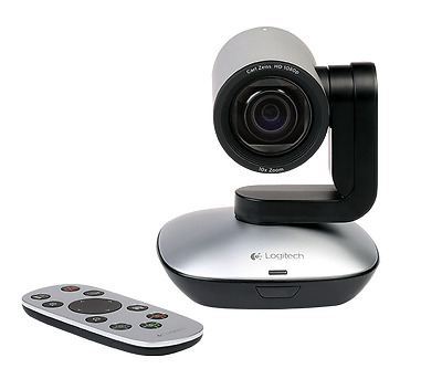 Logitech PTZ Pro Camera and remote for large rooms and event spaces 960-001023