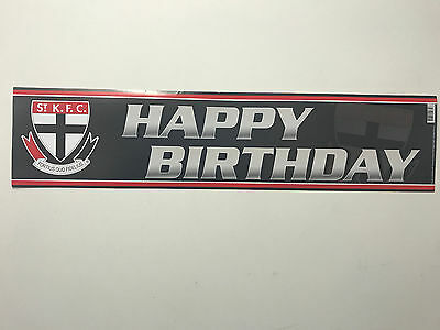 Official AFL St Kilda Saints Happy Birthday Banner Poster Style 2