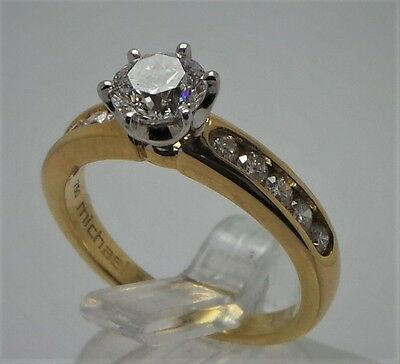 9ct YELLOW GOLD 1CT  DIAMOND ENGAGEMENT RING VALUED @ $6599 COMES WITH VALUATION