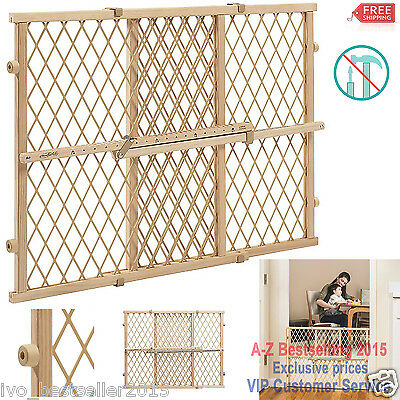 Evenflo Position And Lock Doorway Gate Fence Babies Pets Safety Wood