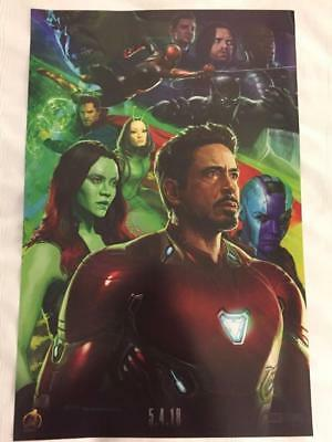 Marvel SDCC 2017 Iron Man Poster #3 Infinity War Thanos Avengers Exclusive