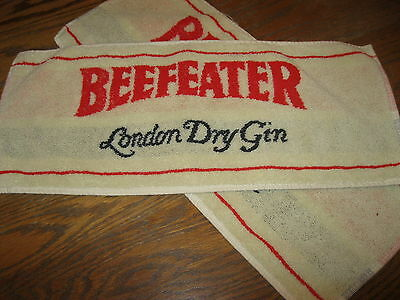 2 Beefeater London Dry Gin Bar Towels Beer Pub Brewery Club Cocktail Lounge
