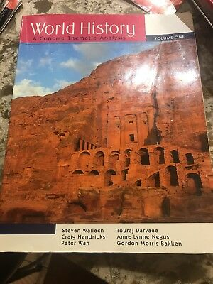 World History Vol. 1 : A Concise Thematic Analysis by Peter Wan, Steven, 1st...