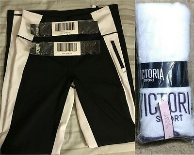 Victoria's Secrets Sports Lot VSX Knockout tights pants sports towel headbands