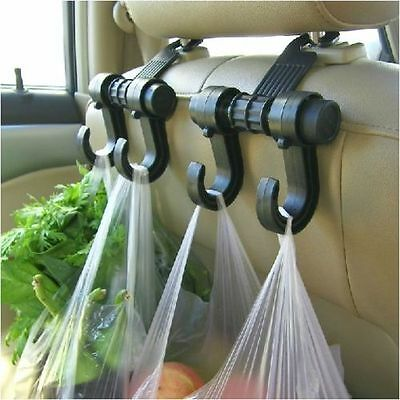 Car Seat Double Hook Purse Bag Hanging Hanger Auto Bag Organizer Holder Storage